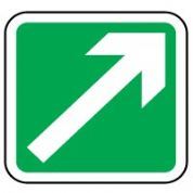 Safe Safety Sign - Arrow 45 Right 032